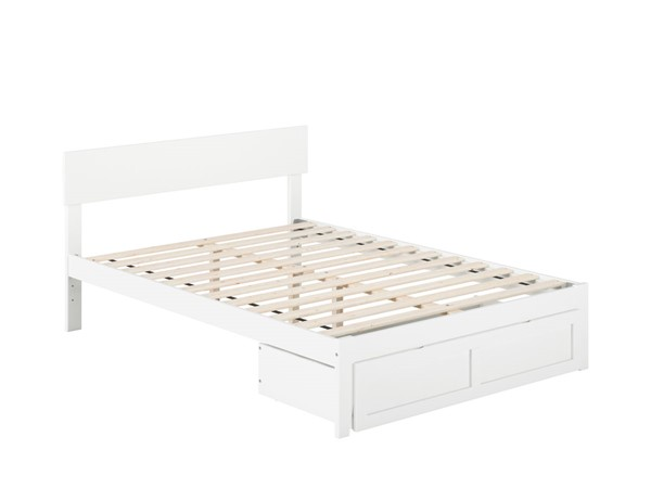 Atlantic Furniture Boston White Full Bed with Foot Drawer AG8112332