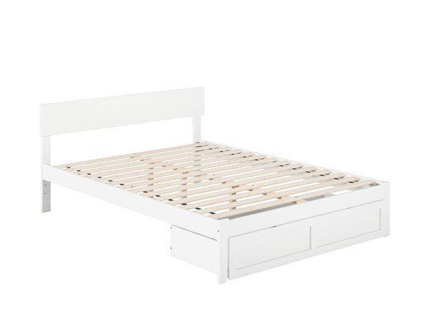 Atlantic Furniture Boston White Queen Bed with Foot Drawer AG8112442