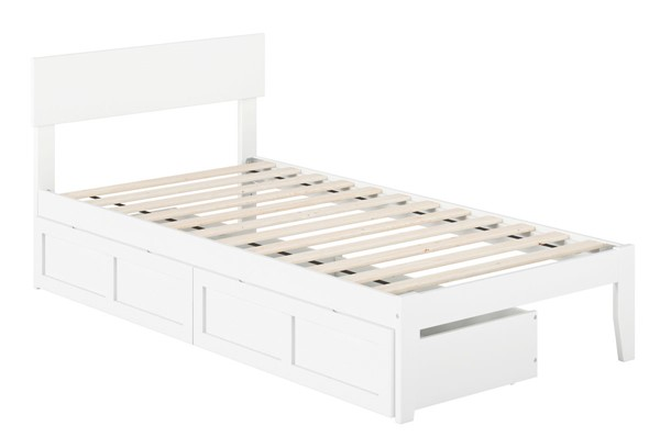 Atlantic Furniture Boston White Two Drawers Twin Bed AG8113322