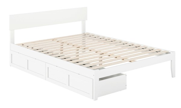 Atlantic Furniture Boston White Two Drawers Queen Bed AG8113442