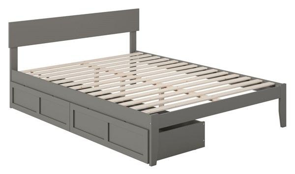 Atlantic Furniture Boston Grey Two Drawers Queen Bed AG8113449