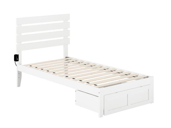 Atlantic Furniture Oxford Foot Drawer Beds with USB Turbo Charger AG831222-DWR-BEDS-VAR
