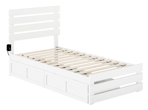 Atlantic Furniture Oxford Footboard and USB Turbo Charger Two Drawers Beds AG8363-DWR-BEDS