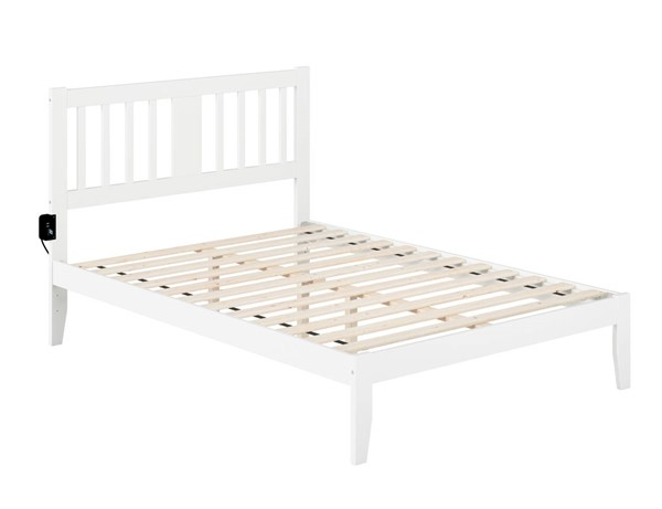 Atlantic Furniture Tahoe White Full Bed with USB Turbo Charger AG8910032