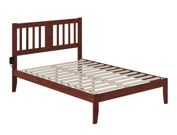 Atlantic Furniture Tahoe Walnut Full Bed with USB Turbo Charger AG8910034