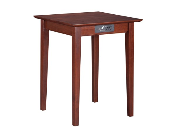 Atlantic Furniture Shaker Walnut Printer Stand with Charging Station AH10114