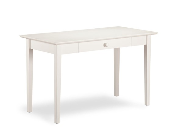 Atlantic Furniture Shaker White Solid Wood Desk with Drawer AH12102