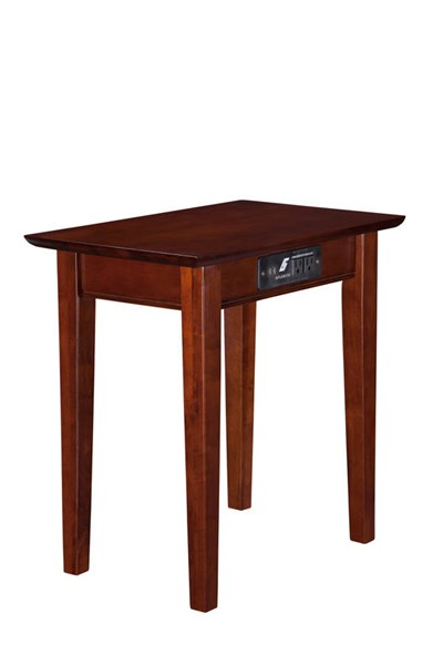 Atlantic Furniture Shaker Chair Side Tables with Charger AH1311-ET-VAR