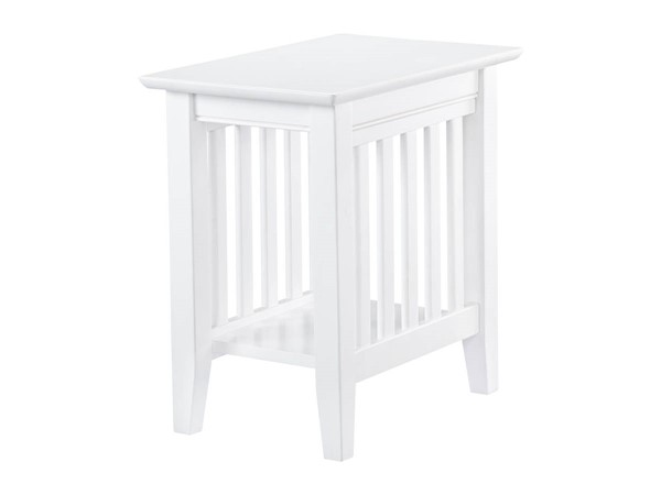 Atlantic Furniture Mission White Chair Side Table AH13202