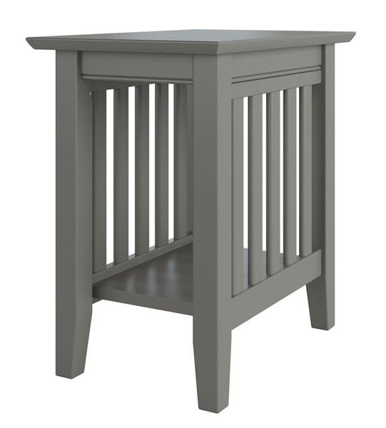 Atlantic Furniture Mission Grey Chair Side Table AH13209