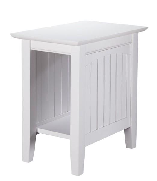 Atlantic Furniture Nantucket White Chair Side Table AH13302