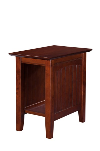 Nantucket Cottage Walnut Solid Wood Chair Side Table AH13304