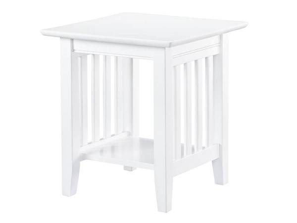 Atlantic Furniture Mission White End Table AH14202