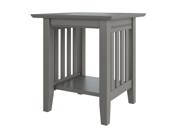 Atlantic Furniture Mission Grey End Table AH14209