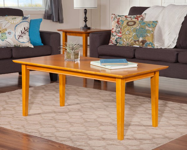Shaker Classic Caramel Latte Solid Wood 3pc Coffee Table Set AH15107-AH14107