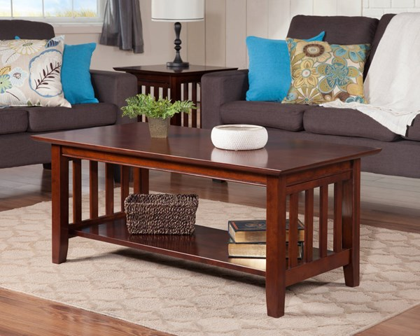 Mission Craftsman Solid Wood 3pc Coffee Table Sets AH15204-AH15207