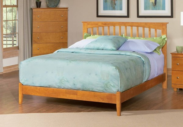 Brooklyn Caramel Latte Rubberwood Full Bed w/Open Foot Rail AP9031007