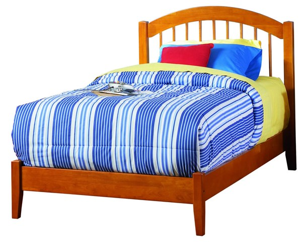 Windsor Traditional Caramel Wood Twin XL Platform Open Foot Bed AP9411007