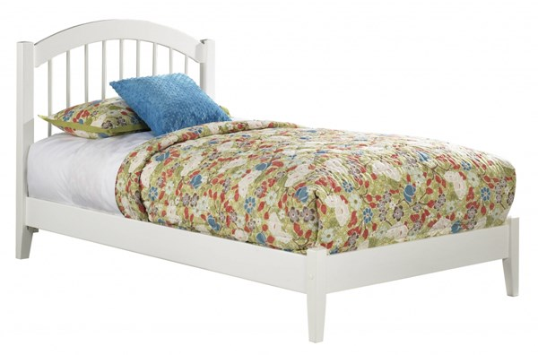 Windsor Cottage White Wood Twin Platform Open Foot Bed AP9421002