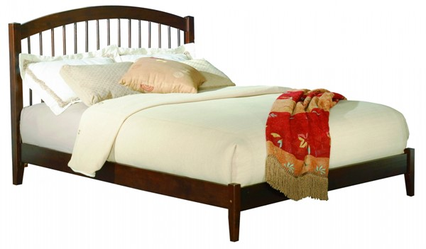 Windsor Walnut Wood Full Open Foot Rail Platform Bed AP9431034