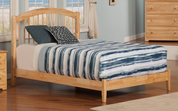 Windsor Natural Wood Full Open Foot Rail Platform Bed AP9431035