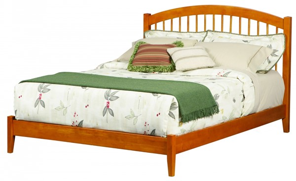 Windsor Cottage Caramel Latte Wood Full Open Foot Bed AP9431007