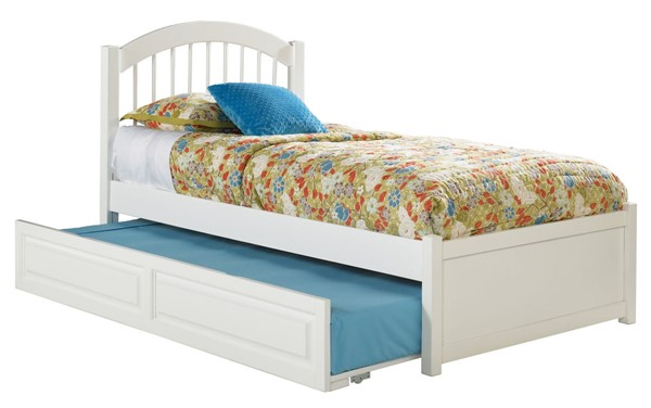 Atlantic Furniture Windsor White Flat Panel Footboard and Raised Trundle Full Bed AP9432012