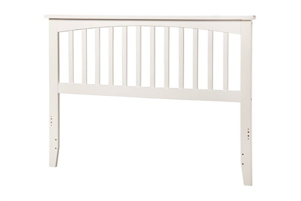 Mission White Wood Queen Headboard AR287842
