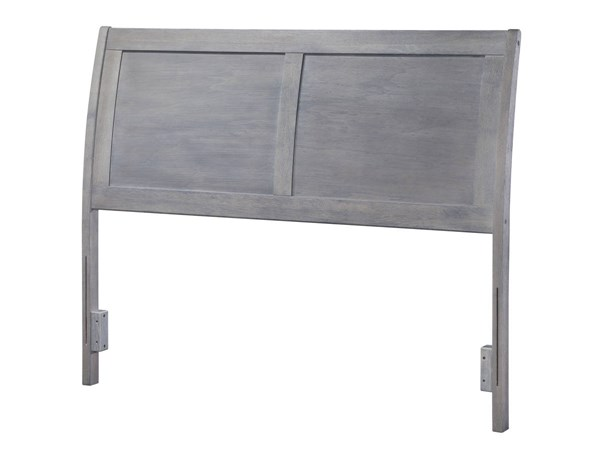 Portland Modern Driftwood Grey Wood Full Headboard AR289838