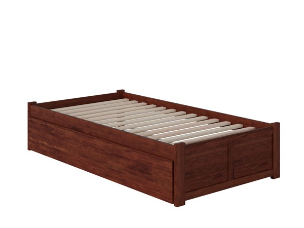 Atlantic Furniture Concord Walnut Twin XL Bed with Footboard and Twin XL Trundle AR8012044