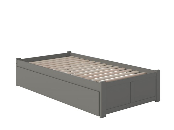 Atlantic Furniture Concord Grey Twin XL Bed with Footboard and Twin XL Trundle AR8012049