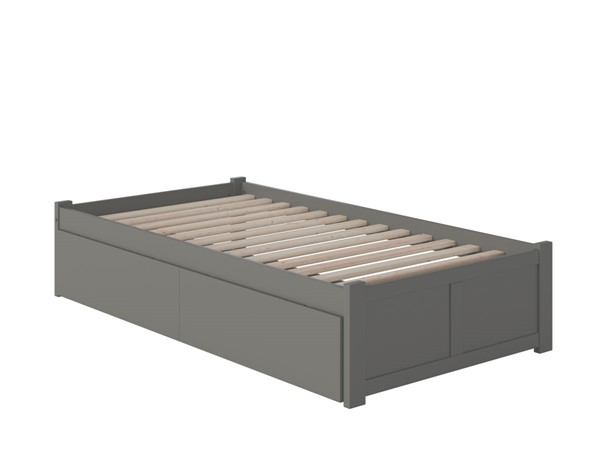 Atlantic Furniture Concord Beds with Flat Panel Foot Board and 2 Urban Drawers AR801211-SBED-VAR