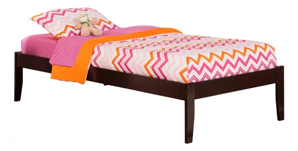 Concord Traditional Espresso Wood Twin Platform Open Foot Bed AR8021001