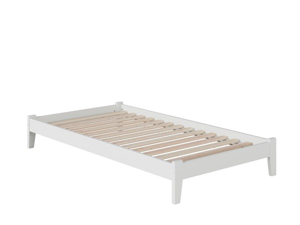 Atlantic Furniture Concord White Open Foot Board Twin Platform Bed AR8021002