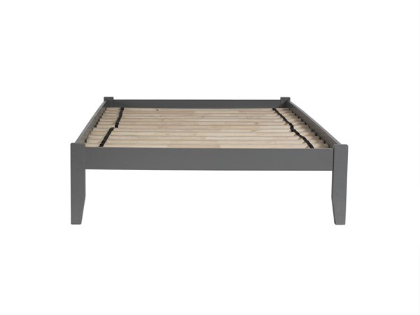 Atlantic Furniture Concord Grey Twin Platform Bed with Open Foot Board AR8021009