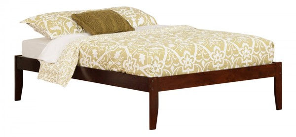 Concord Traditional Walnut Wood Full Platform Open Foot Bed AR8031004