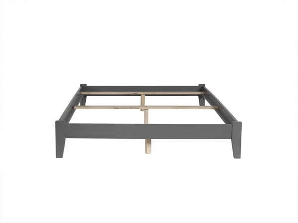 Atlantic Furniture Concord Grey Full Platform Bed with Open Foot Board AR8031039