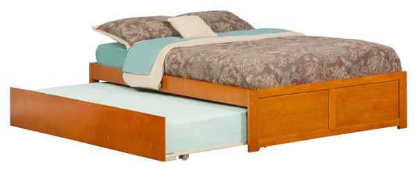 Concord Caramel Latte Flat Panel Footboard And Urban Trundle Full Bed AR8032017