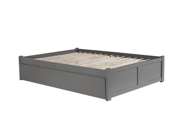 Atlantic Furniture Concord Grey Full Platform Bed with Urban Trundle AR8032019