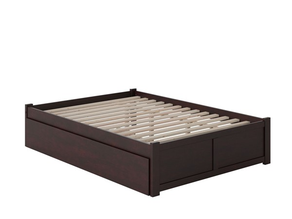 Atlantic Furniture Concord Espresso Queen Bed with Footboard and Twin XL Trundle AR8042041
