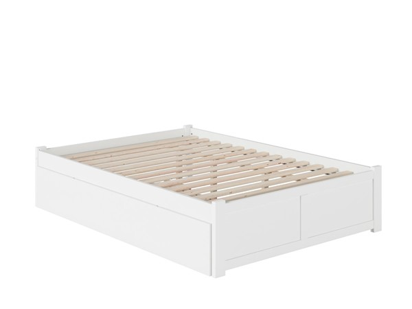 Atlantic Furniture Concord White Queen Bed with Footboard and Twin XL Trundle AR8042042