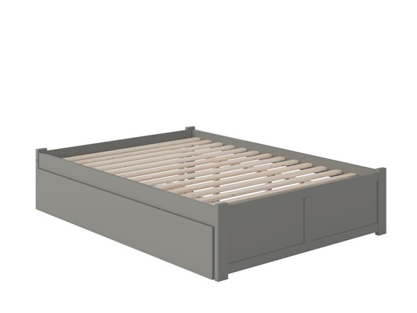 Atlantic Furniture Concord Grey Queen Bed with Footboard and Twin XL Trundle AR8042049