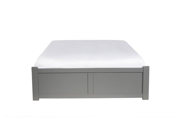 Atlantic Furniture Concord Grey King Platform Bed with 2 Urban Drawers AR8052119
