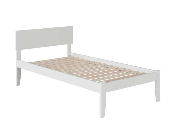 Atlantic Furniture Orlando White Twin Platform Bed with Open Foot Board AR8121002