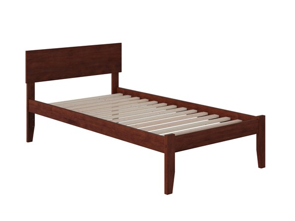 Atlantic Furniture Orlando Walnut Twin Platform Bed with Open Foot Board AR8121004