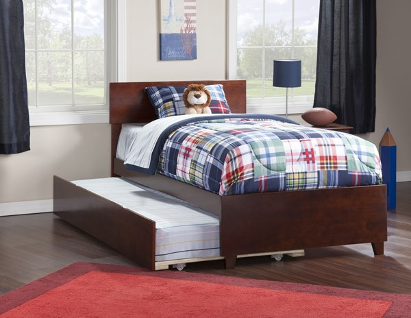 Atlantic Furniture Orlando Walnut Matching Footboard and Urban Trundle Bed Twin Bed AR8126014