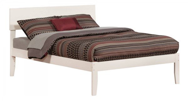 Orlando White Wood Full Platform Open Foot Bed AR8131002