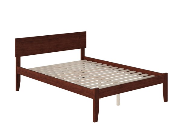 Atlantic Furniture Orlando Walnut Full Platform Bed with Open Foot Board AR8131004