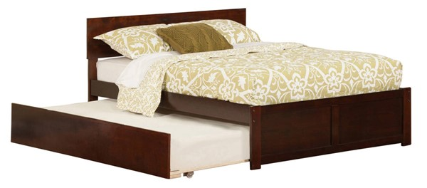 Atlantic Furniture Orlando Walnut Flat Panel Footboard and Urban Trundle Full Bed AR8132014