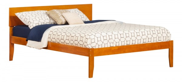 Orlando Modern Caramel Latte Wood King Open Foot Rail Bed AR8151037
